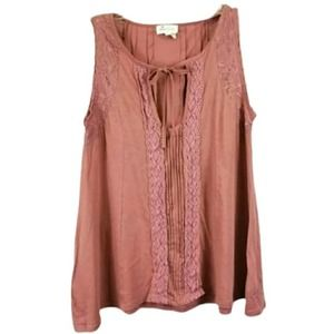 Meadow Rue Anthropologie Lacey Sleeveless Blouse